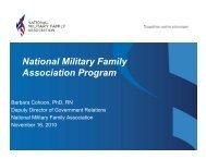 National Military Family A i ti P Association Program - NAMI New ...