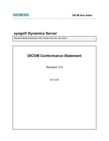 syngo Dynamics Server - 5.0 - Siemens Healthcare