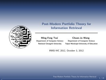 Post-Modern Portfolio Theory for Information Retrieval