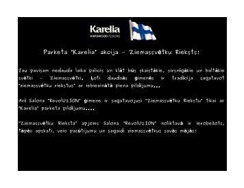 "Parketa ""Karelia"" akcija - Salons REvolU2ION"