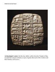 Sumerian Artifacts - ACT-ESL