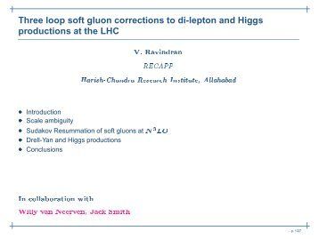 for Higgs Production