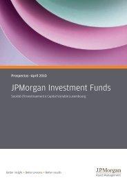 JPMorgan Investment Funds - Efama