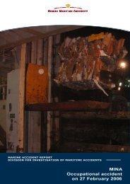 MINA Occupational accident on 27 February 2006 - Danish Maritime ...