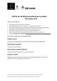 mall sammanfattning + kritisk reflektion - CSD Uppsala