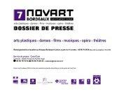 NOVART - Bordeaux - Novembre 2008 - Dossier de presse