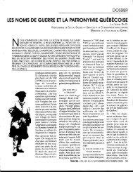 les noms de guerre et la patronymie québécoise, luc lépine, traces ...