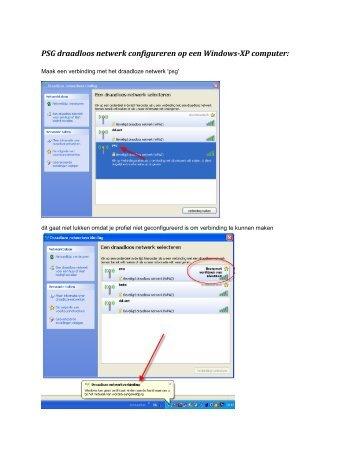 PSG draadloos netwerk configureren op een Windows-XP computer: