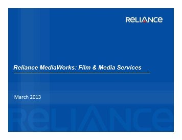Corporate Deck : RMW - FMS - Reliance MediaWorks