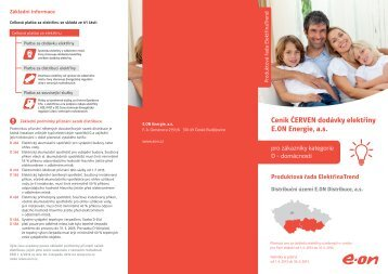 Ceník Červen 2013 - E.ON