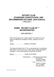 ROTARY CLUB STANDARD CONSTITUTION AND ...