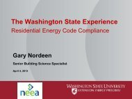 Compliance Efforts in the Northwest - Building Energy Codes