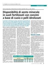 Disponibilità di azoto minerale in suoli fertilizzati con ... - Tec.bio