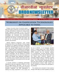 Workshop on Gasification Technologies Applicable to India - DRDO