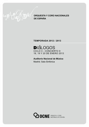 CONCIERTO 9 18, 19 Y 20 DE ENERO 2013 Auditorio Nacional