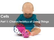 Part 1: Characteristics of Living Things - Science with Mr. Enns
