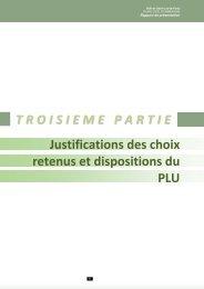 Justifications des choix retenus et dispositions du PLU