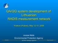 QA/QQ procedures - Aplinkos apsaugos agentūra