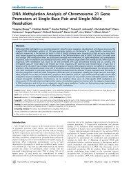 DNA Methylation Analysis of Chromosome 21 Gene ... - ResearchGate