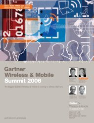 Gartner Wireless & Mobile Summit 2006