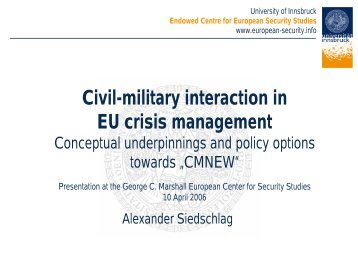 civil-military - European Security Conference Initiative
