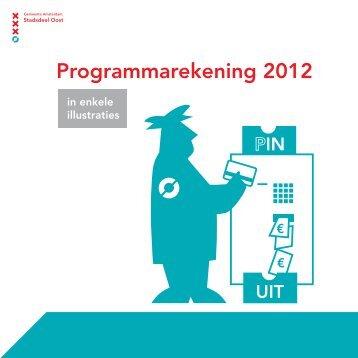 Programmarekening 2012 - Stadsdeel Oost