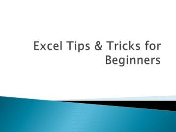 75 tips and tricks excel reduced Use round, roundup and rounddown functions to round your numbers in excel lots of examples and free 100 excel tips & tricks ebook – click here to download as present, as long as the in-stock value is 05 or lower, there will be a command to order another bottle (rounding up from 05.