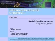 Podstawy programowania w C++