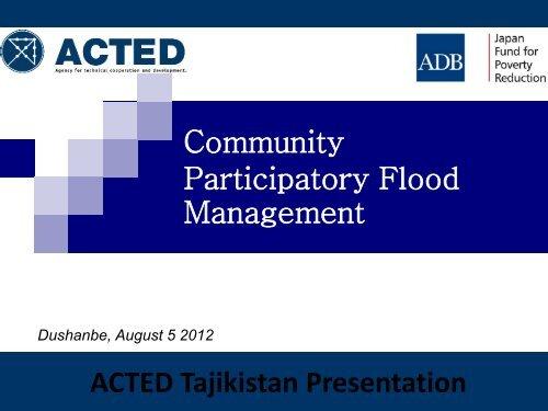 ACTED'S ECO-TOURISM PROGRAMME - UNDP in Tajikistan