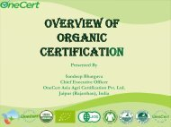 Overview of Organic Certification