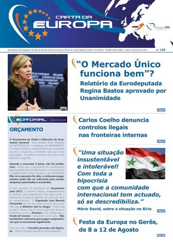 Julho a Outubro - Carlos Coelho