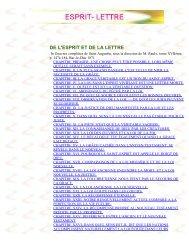 ESPRIT- LETTRE - La Porte Latine