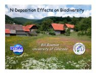 N Deposition Effects on Biodiversity