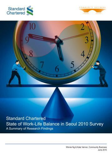 Standard Chartered State of Work-Life Balance in Seoul 2010 Survey