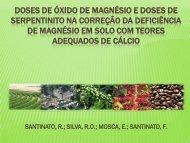 doses de óxido de magnésio e doses de serpentinito na correção ...