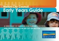 Early Years Guide 2013 - Melton City Council