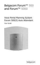 Forum 500(0) Auto Attendant - Help and support - Belgacom