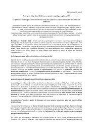 Communiqué de presse L'entreprise belge GreenWatt lance ... - Edora