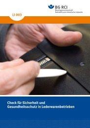 Bestandsaufnahme - Berufsgenossenschaft Rohstoffe und ...