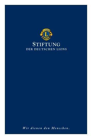 Stifterbroschüre - Stiftung der Deutschen Lions