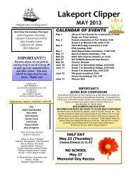 Newsletter May 2013 - Port Huron Area Schools