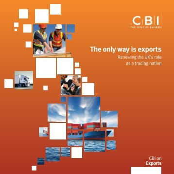 Download The Only way is Exports report - CBI