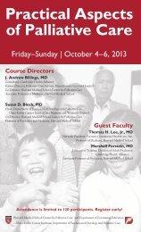 Practical Aspects of Palliative Care - Harvard Medical School
