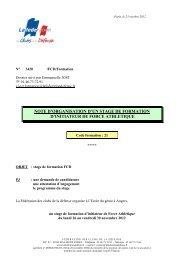 note d'organisation stage musculation nov 2012 - La fédération des ...