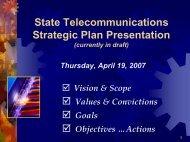 State Telecommunications Strategic Plan - Cioarchives.ca.gov