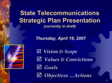 State Telecommunications Strategic Plan - Cioarchives.ca.gov