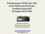 KASN dan JES dalam Analisis Komparatif.pdf - Kumoro.staff.ugm.ac.id