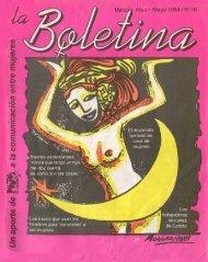La Boletina # 16 - Sidoc