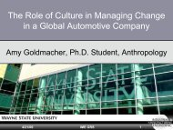 The Role of Culture in Managing Change in a Global Automotive ...
