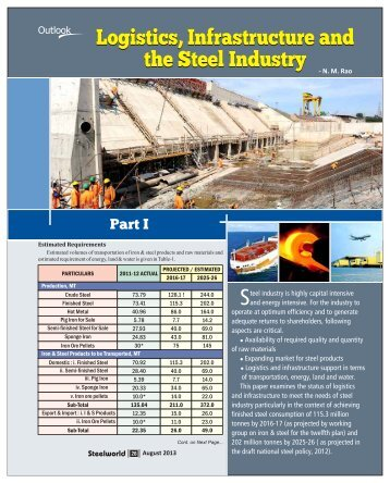 Logistics, Infrastructure and the Steel Industry - Steelworld
